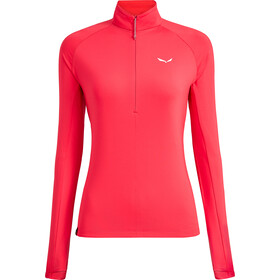 SALEWA Puez PL Half-Zip LS Tee Damen rose red